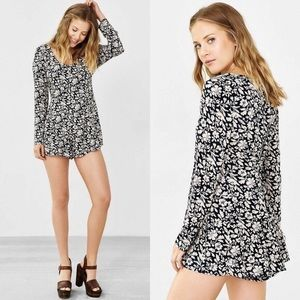 Urban Outfitters Lucca Zip Floral Romper